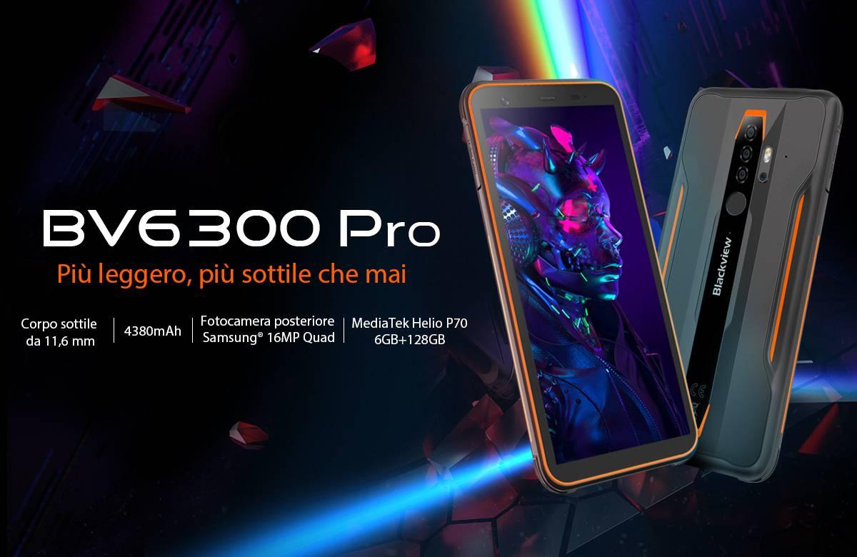 lo smartphone rugged economico BV6300 Pro