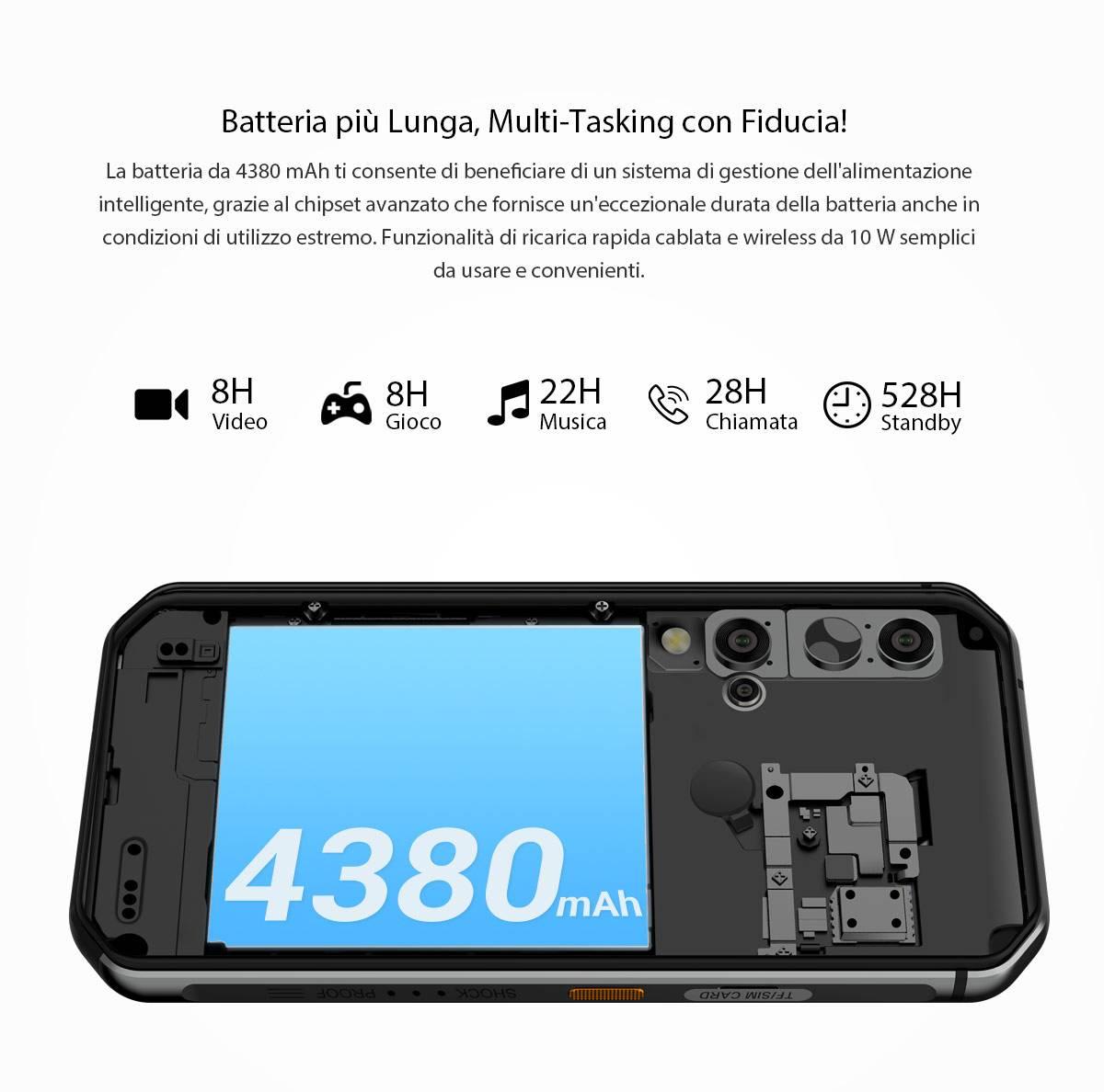 bv9900 pro batteria 4380